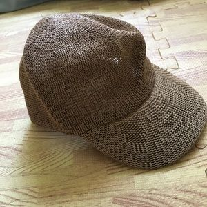 Urban outfitter brown woven cap